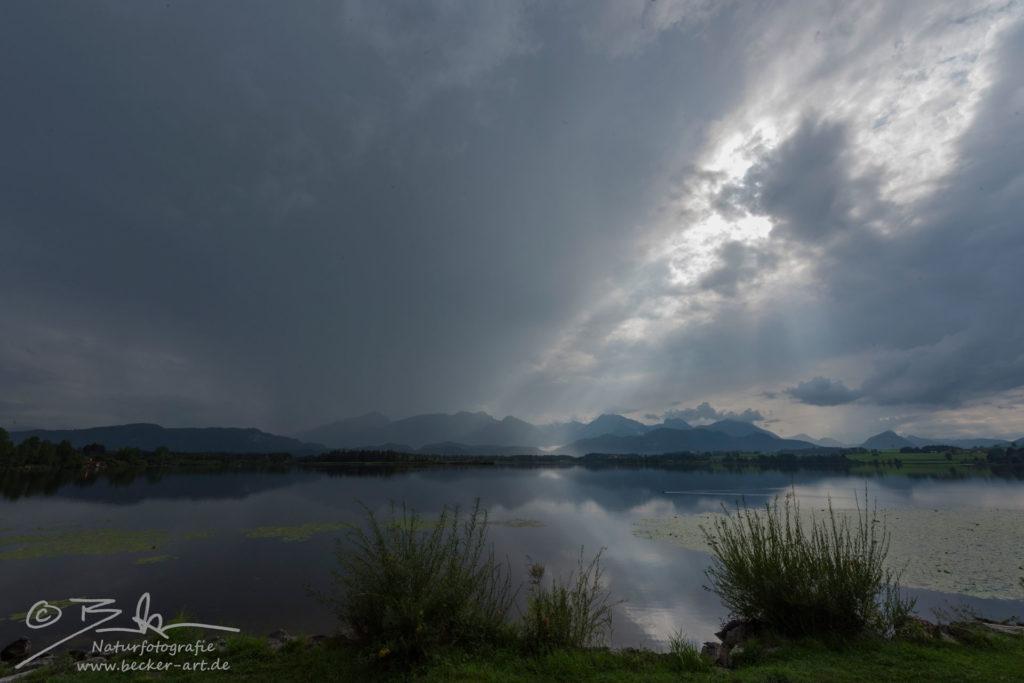 becker-art Bayern See Hopfensee Himmel Wolken