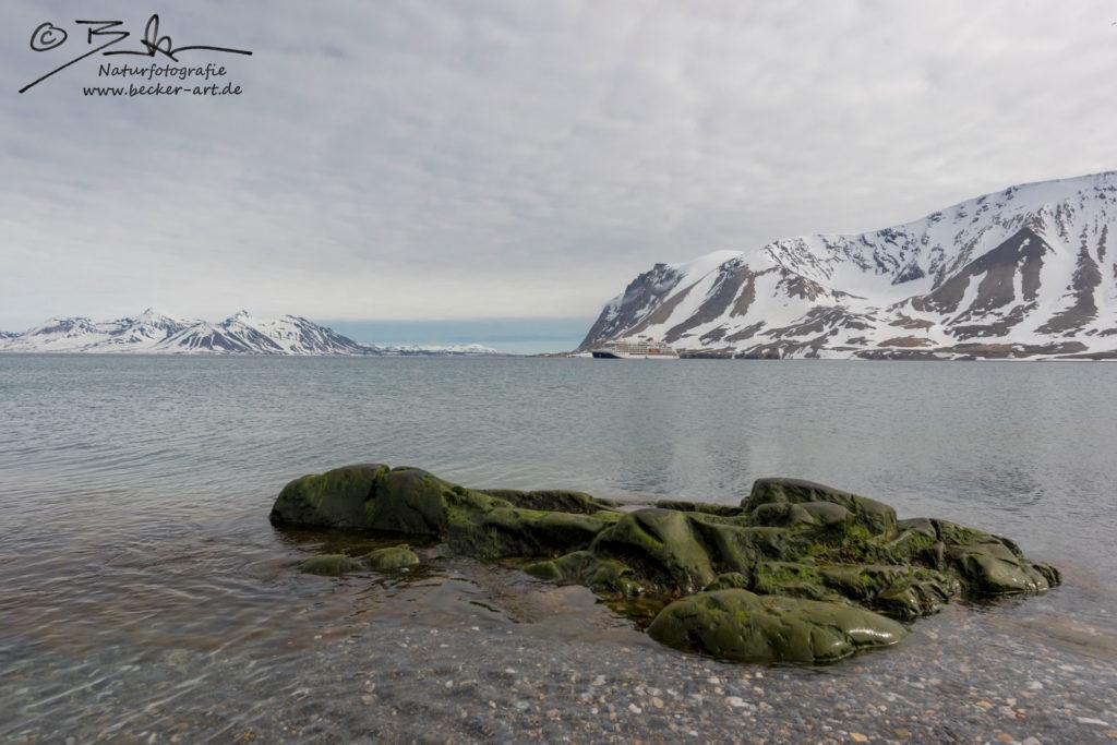 becker-art Natur Spitzbergen Svalbard Himmel Wolken Berge Meer Eis Felsen