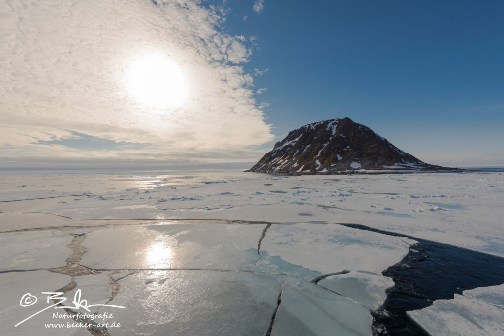 becker-art Natur Spitzbergen Svalbard Himmel Wolken Berge Meer Eis