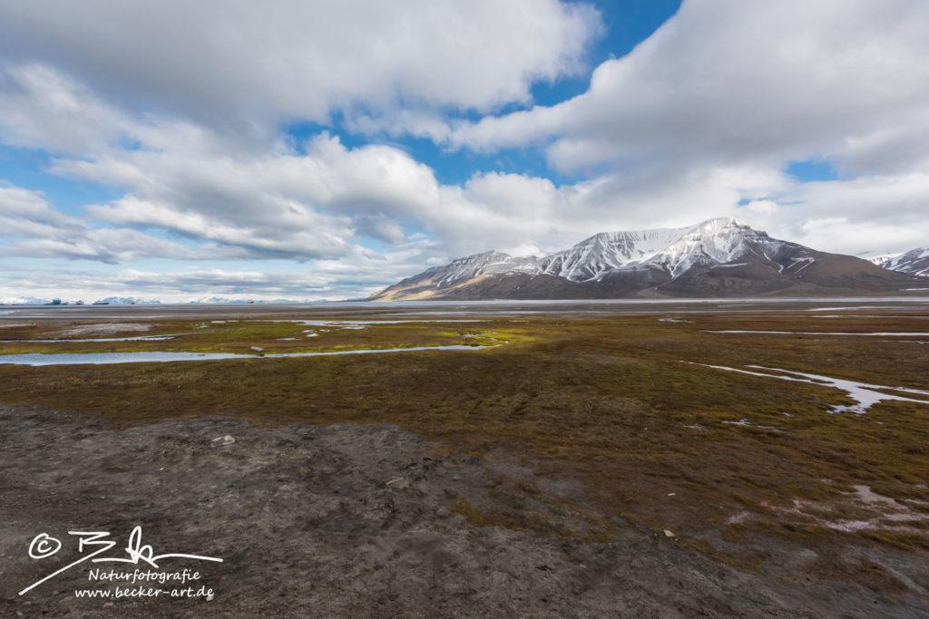 becker-art Natur Spitzbergen Svalbard Himmel Wolken Berge Meer Longyearbyen